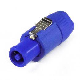 Conector Powercon Linha ( Entrada ) Azul WC3FCA - Wireconex