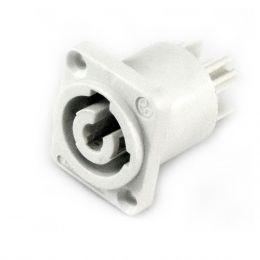 Conector Powercon Painel ( Saída ) Cinza WC3MPB - Wireconex