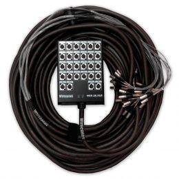 Multicabo Completo 28 Vias XLR ( Balanceado ) c/ Trava 36mts - Wireconex