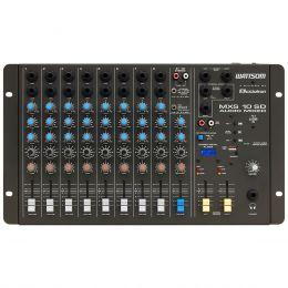 Mesa de Som 10 Canais (8 P10 Desbalanceados + RCA) c/ USB Play / 1 Auxiliar - MXS 10 SD Ciclotron