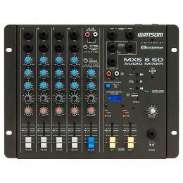 Mesa de Som 6 Canais (4 P10 Desbalanceados + RCA) c/ USB Play / 1 Auxiliar - MXS 6 SD Ciclotron