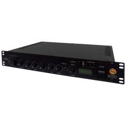 SPL400 - Pré Amplificador Integrado c/ Amplificador de Linha 70.7V 400W SPL 400 - Sansara