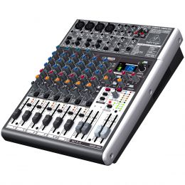 Mesa de Som 12 Canais Balanceados (4 XLR + 8 P10) c/ USB / Efeito / Phantom / 2-4 Auxiliares - Xenyx X 1204 USB Behringer
