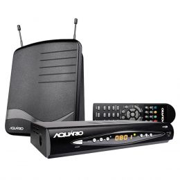DTV 8100 - Kit Conversor Digital Full HD + Antena Interna DTV8100 Aquário
