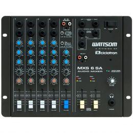 MXS6SA - Mesa de Som / Mixer 6 Canais MXS 6 SA - Ciclotron