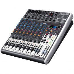 Mesa de Som 16 Canais Balanceados (4 XLR + 12 P10) c/ USB / Efeito / Phantom / 2 Auxiliares - Xenyx X 1622 USB Behringer