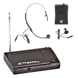 MS115CLI - Microfone s/ Fio Headset e Lapela VHF MS 115 CLI - TSI
