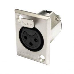 Conector XLR Fêmea Painel - AC 3 FPZ Amphenol