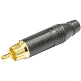 Conector RCA Macho de Linha ACPRBLK Amphenol