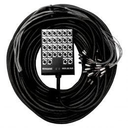 Multicabo Completo 28 Vias XLR ( Balanceado ) c/ Trava 30mts - VR CABOS