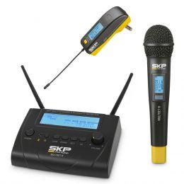 Microfone s/ Fio de Mão e Transmissor - Multiset III SKP