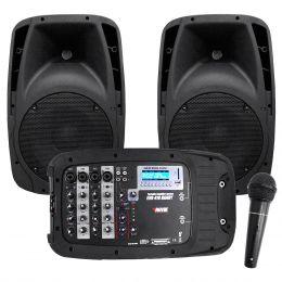 EVO410 - Kit Port�til c/ Mesa, 2 Caixas, Microfone e Cabo EVO 410 - Novik Neo