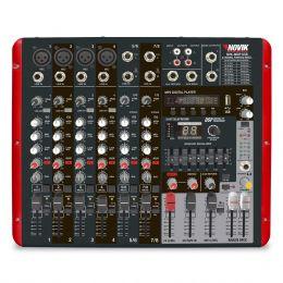 NVK800P - Mesa de Som / Mixer 8 Canais USB NVK 800 P - Novik Neo