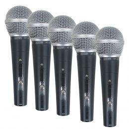 Kit 5 Microfones c/ Fio de Mão CSR 48-5 - CSR