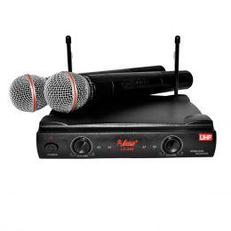LC202 - Microfone s/ Fio Duplo de Mão LC 202 - Leacs