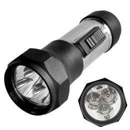 CSRJ1DE1 - Lanterna Metálica / Plástica 3 LEDs CSR J1 DE 1 - CSR
