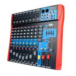 Mesa de Som / Mixer 8 Canais USB MS 802eux - Soundvoice