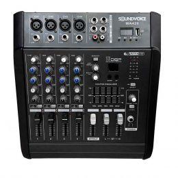 MA420 - Mesa de Som / Mixer Amplificado 400W 4 Canais MA 420 - Soundvoice