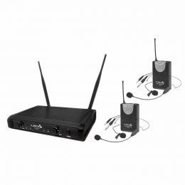 Microfone s/ Fio Headset, Lapela e Instrumento Duplo UHF UH 06 HLI HLI - LYCO