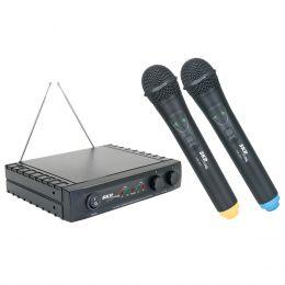 VHF2671 - Microfone s/ Fio de Mão VHF Duplo VHF 2671 - SKP