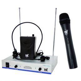 MS425CLI - Microfone s/ Fio Mão, Headset e Lapela VHF MS 425 CLI - TSI