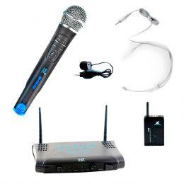 Microfone s/ Fio Mão, Headset e Lapela UHF MS 215 CLI - TSI