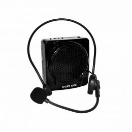 Kit Professor Portátil c/ Caixa + Microfone c/ Fio, USB e FM AP50 - XFORT