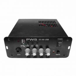 Amplificador 12V c/ USB DC 80 - PWS
