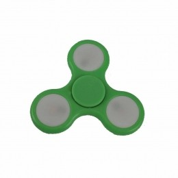 Fidget Hand Spinner Toy Verde c/ LED - Fingertoy