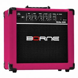 Amplificador Combo p/ Guitarra Strike G 30 Rosa - Borne