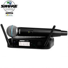 GLXD24BRB58 - Microfone s/ Fio de Mão GLXD 24BR B58 - Shure