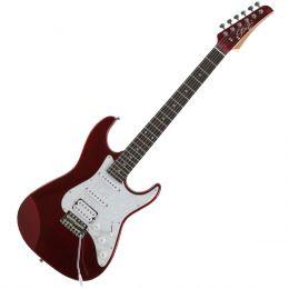 Guitarra Stone RW Metallic Red c/ Escudo Branco Perolado - Seizi