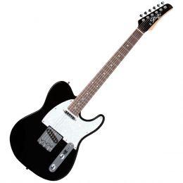 Guitarra Television RW Metallic Black c/ Escudo Branco Perolado - Seizi