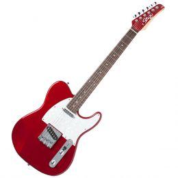 Guitarra Television RW Metallic Red c/ Escudo Branco Perolado - Seizi