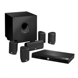 Home Theater c/ Receiver 5.1 Canais 2 HDMI c/ Bluetooth e LAN, 5 Caixas e 1 Subwoofer Cinema BD300 - JBL