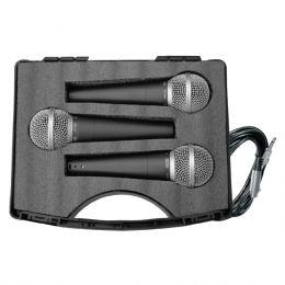 Microfone c/ Fio de Mão Dinâmico (3 Unidades) - 58 3 CSR
