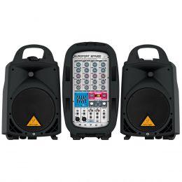 Kit PA Portátil c/ Mesa, 2 Caixas, Microfone e Cabo Europort EPA300 110V - Behringer