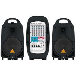 Kit PA Portátil c/ Mesa, 2 Caixas, Microfone e Cabo Europort EPA900 110V - Behringer