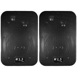 Caixa Passiva 50W Preta c/ Suporte ( Par ) M 4 - WLS