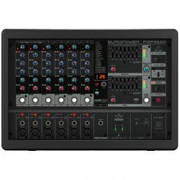 Mesa de Som 6 Canais XLR Balanceados c/ 500W / USB MIC / Efeito / Phantom / 1 Auxiliar - Europower PMP 560 M Behringer 110V