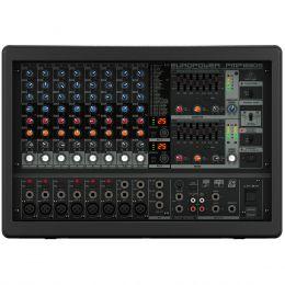 Mesa de Som / Mixer 10 Canais Amplificado 1600W Europower PMP1680S 110V - Behringer