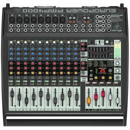 Mesa de Som / Mixer 16 Canais Amplificado 1600W Europower PMP4000 110V - Behringer