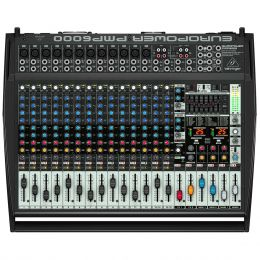 Mesa de Som / Mixer 20 Canais Amplificado 1600W Europower PMP6000 110V - Behringer