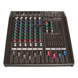 Mesa de Som / Mixer Amplificado 600W RMS ( Total ) 8 Canais MP 8D - CSR