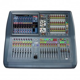 Mesa Digital 56 canais com DL251 / 08 FX Return / 16 Auxiliares / 08 Matrix / 20 Faders de 100mm Motorizado c/ Case - Pro 2 C MIDAS