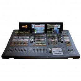Mesa Digital 56 In 32 Out com DL251 / DL441 / 2 x DL442 / 08 FX Return / 16 Auxiliares / 16 Matrix / 31 Faders de 100mm Motorizado com Case - Pro 6 MIDAS