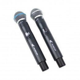 Microfone s/ Fio de Mão Duplo UHF UD-2200-UHF - TSI