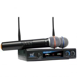 Microfone s/ Fio de Mão Duplo UHF UD-800-UHF - TSI