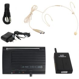 Microfone s/ Fio Headset / Cabeça UHF LS-801 HD-950 - Le Son