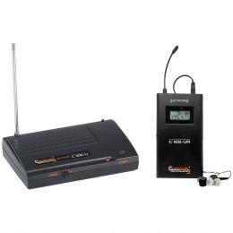 Ponto Eletrônico UHF c/ Receptor s/ Fio c/ Fone de Ouvido In-ear C-IE6-U - Compatível